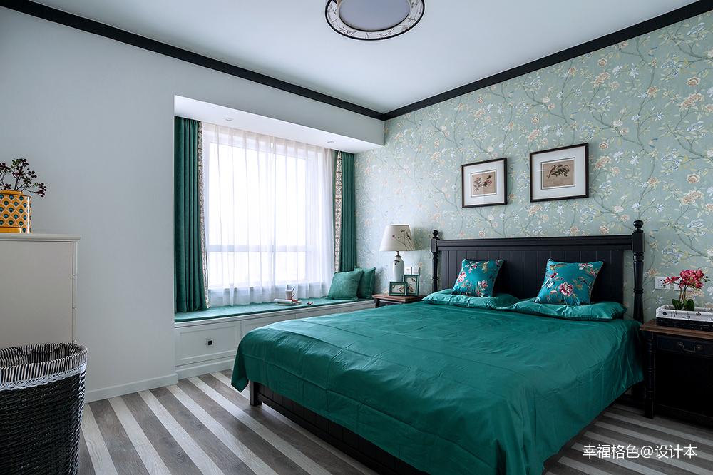 温馨82平中式三居卧室实拍图