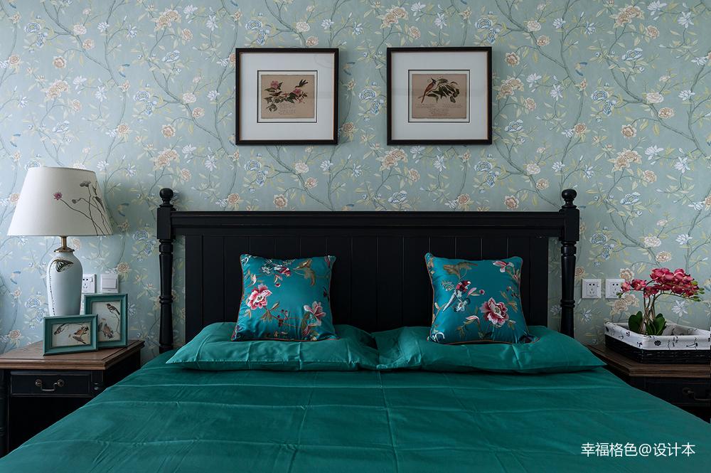 简洁77平中式三居卧室装修效果图