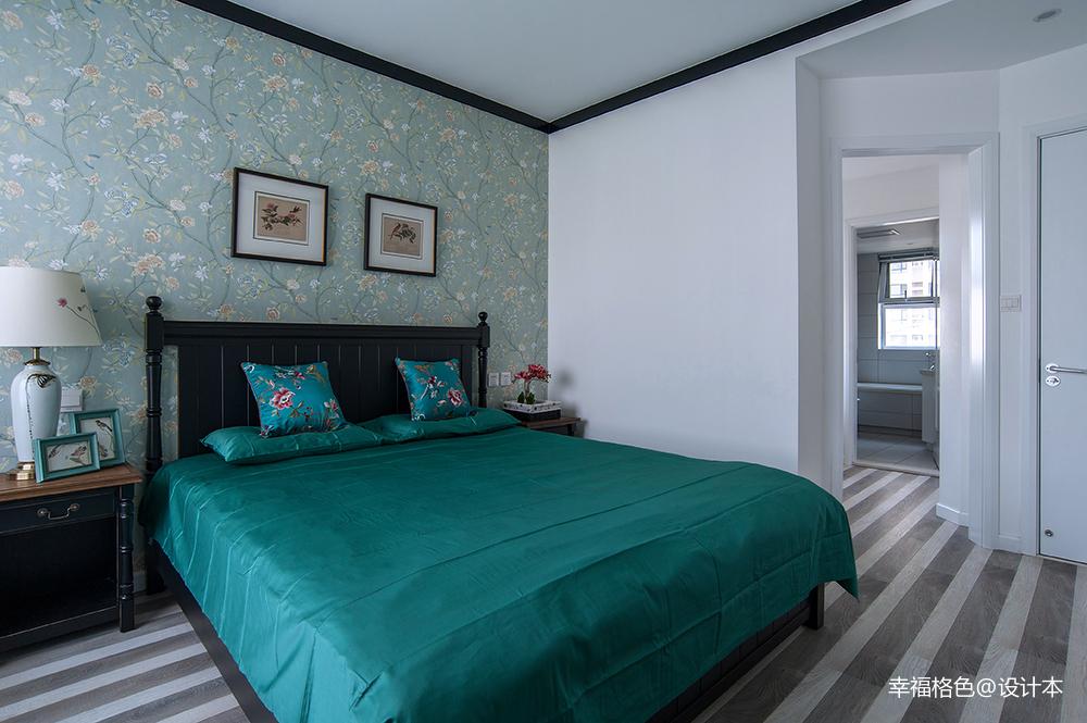 优美122平中式三居卧室实拍图