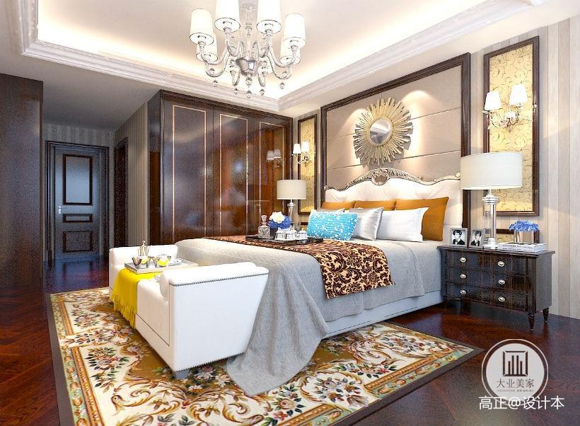 2018别墅卧室简欧装修设计效果图片欣赏