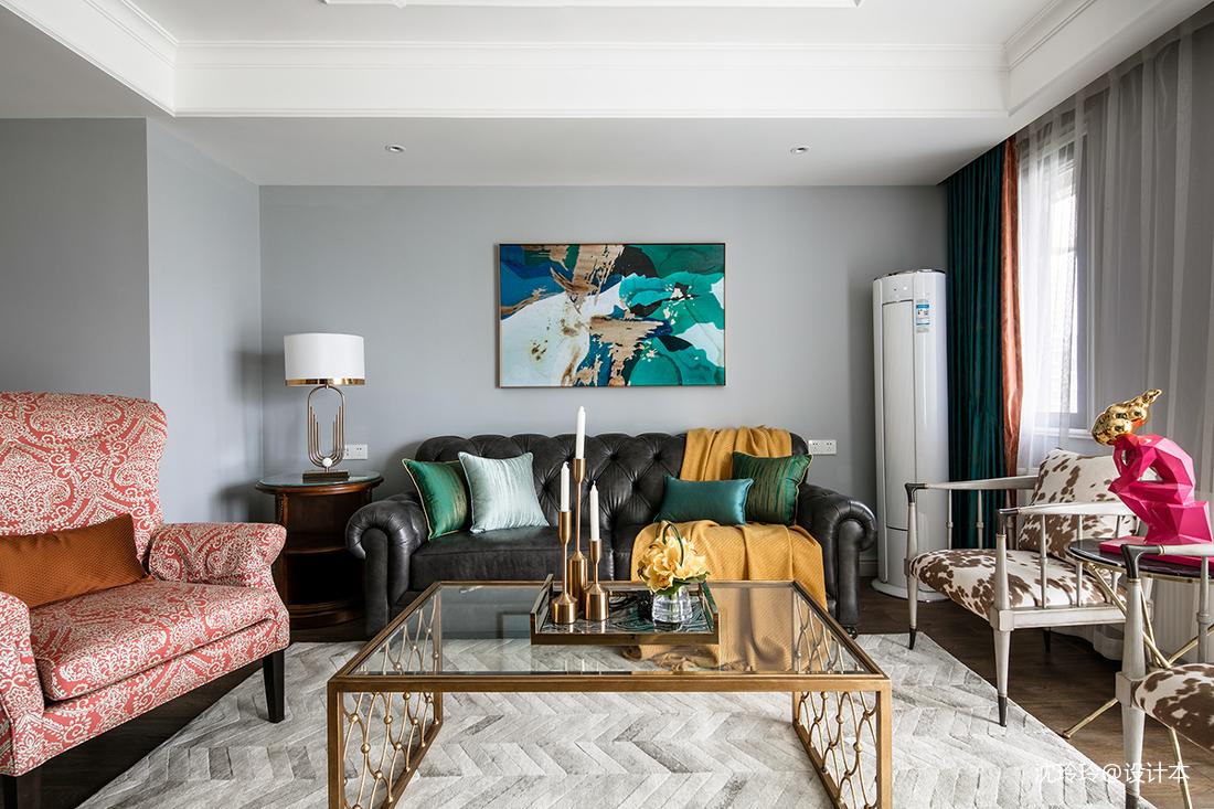 悠雅157平美式四居客厅装饰图片