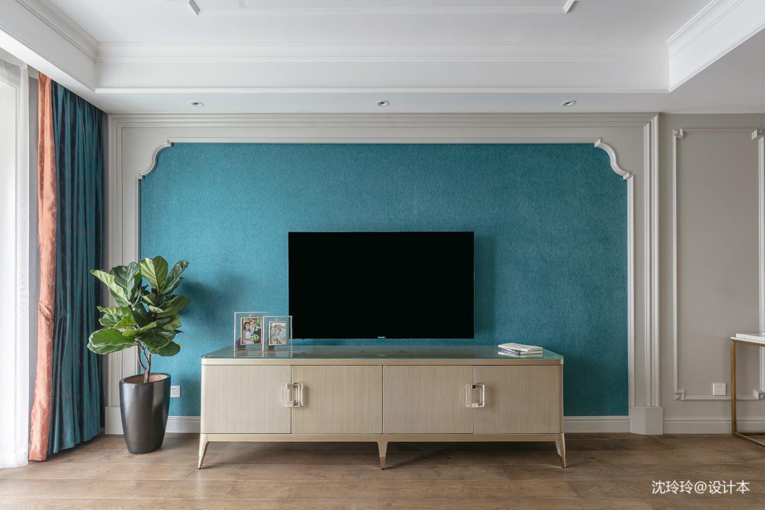 2018面积132平美式四居客厅装饰图片大全