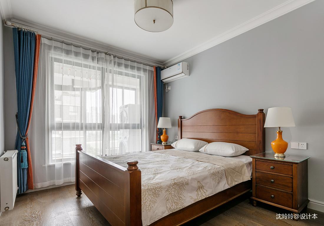 温馨96平美式四居卧室设计美图