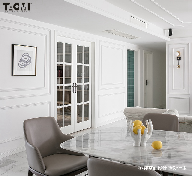 2018精选面积135平美式四居餐厅效果图片欣赏
