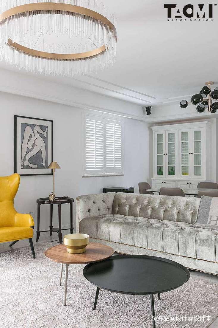 2018128平米四居客厅美式装修设计效果图片