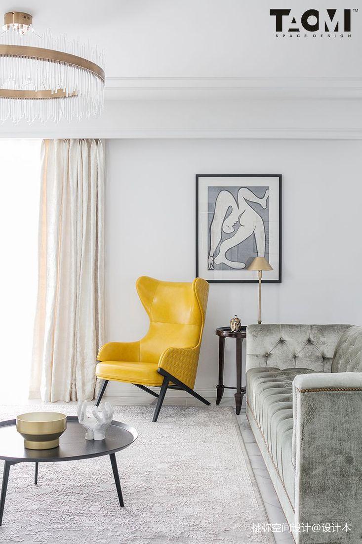 2018美式四居客厅实景图
