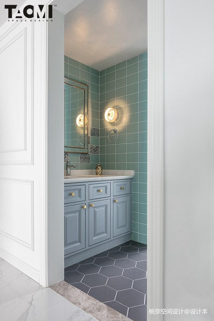 精美面积139平美式四居卫生间装修图片