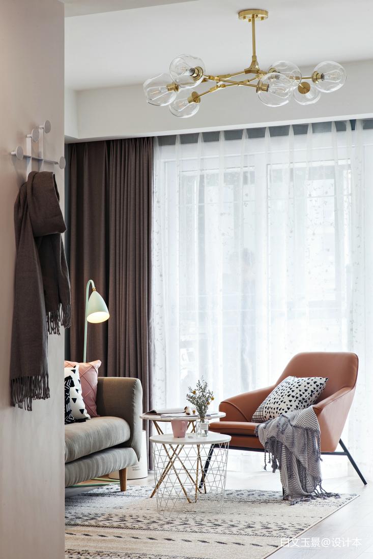 精美109平方三居客厅北欧效果图片欣赏