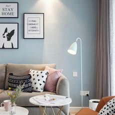 2018精选面积98平北欧三居客厅装修欣赏图片大全