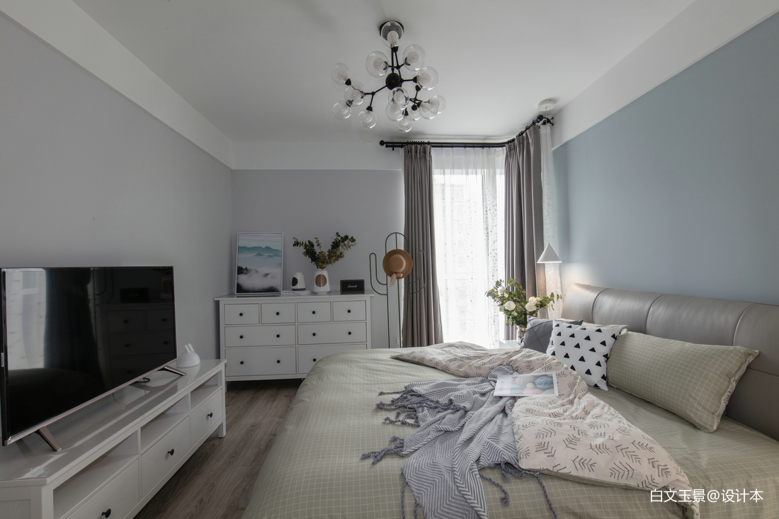 精选面积104平北欧三居卧室装饰图片欣赏