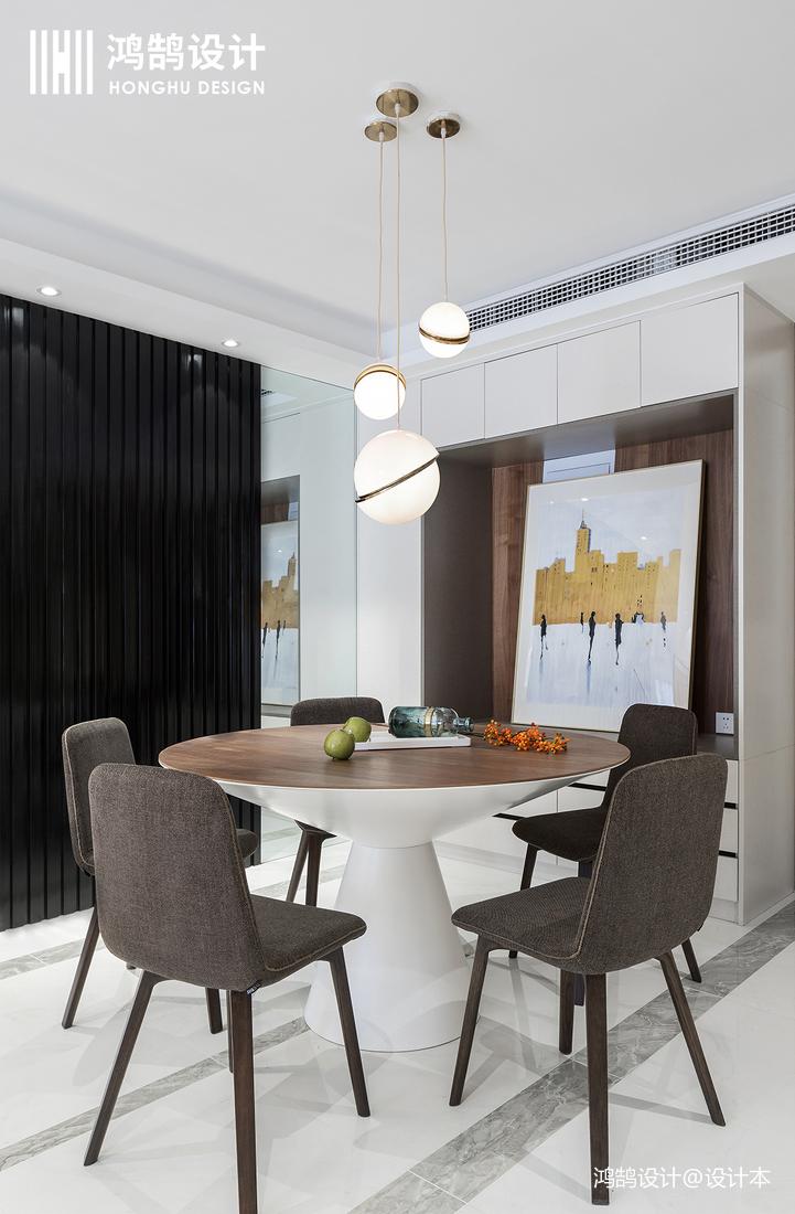 精美123平现代三居餐厅实拍图