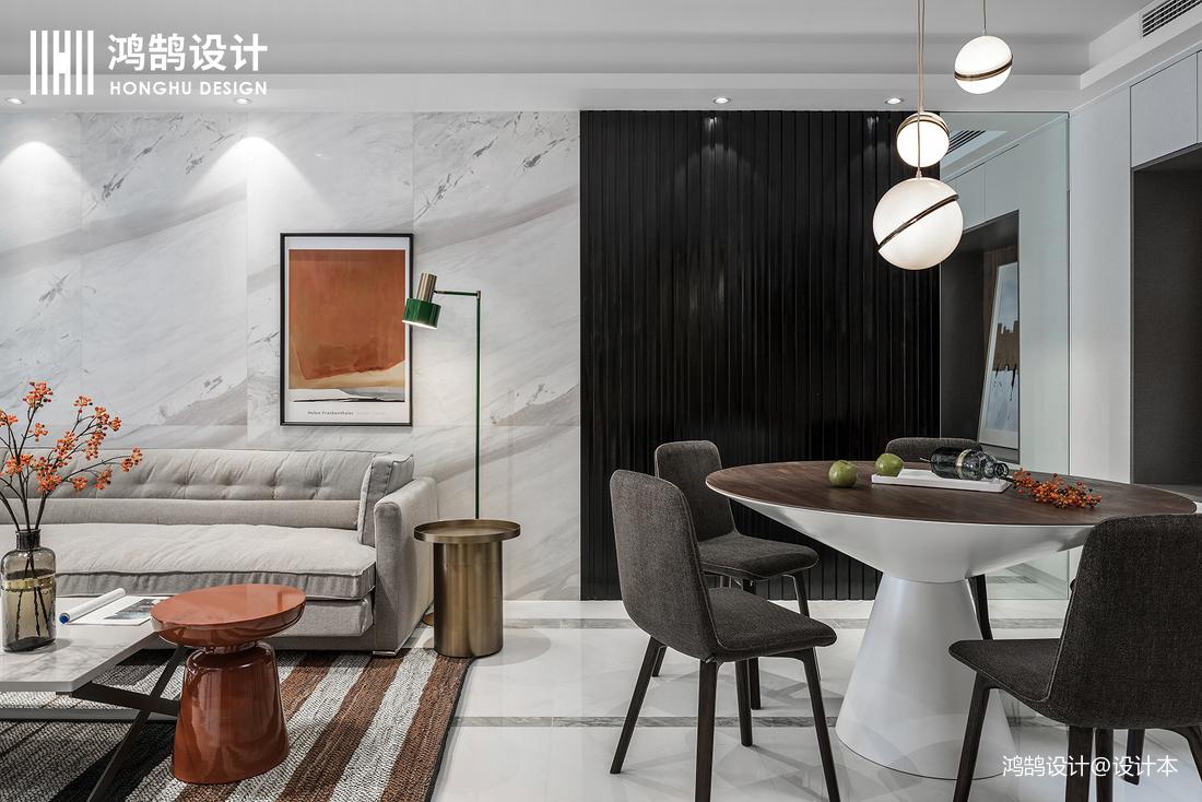优雅113平现代三居装修装饰图