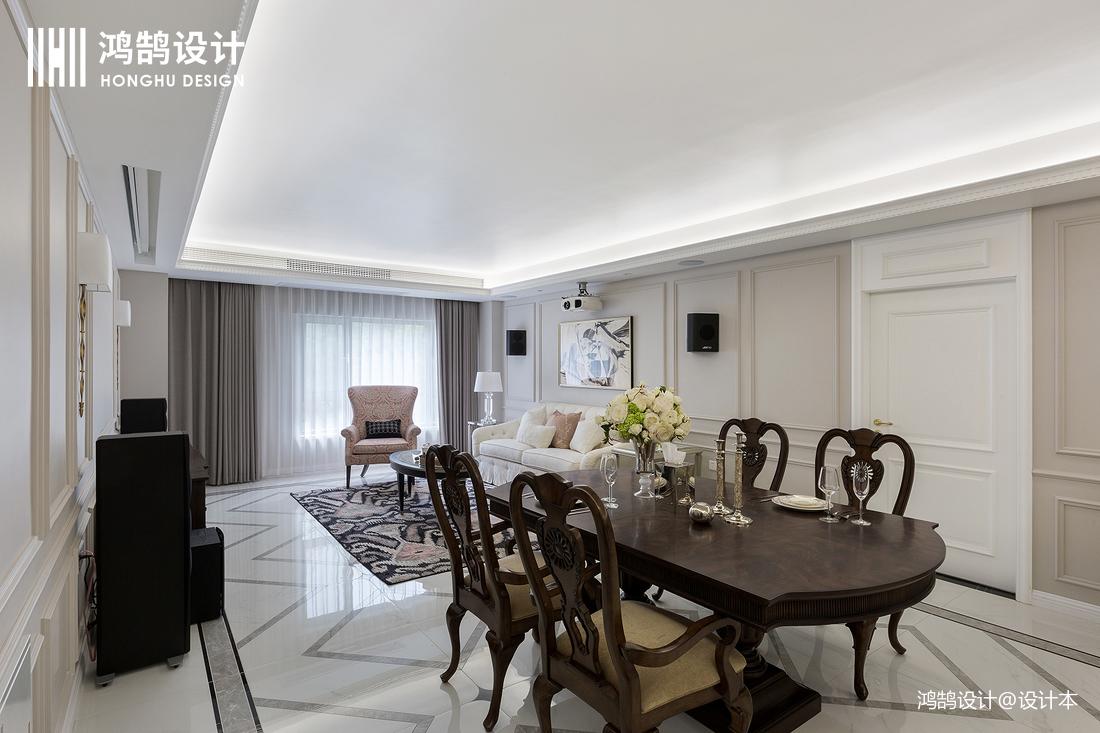 大气100平法式三居客厅实景图