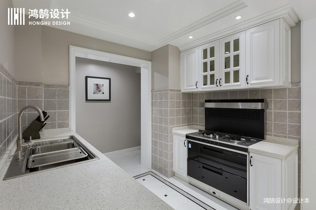 精美90平法式三居厨房实景图