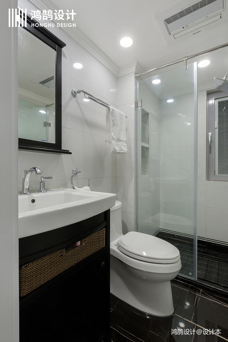 浪漫80平法式三居卫生间图片欣赏