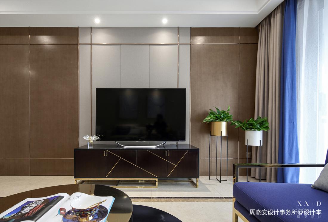 简约混搭四居电视背景墙设计