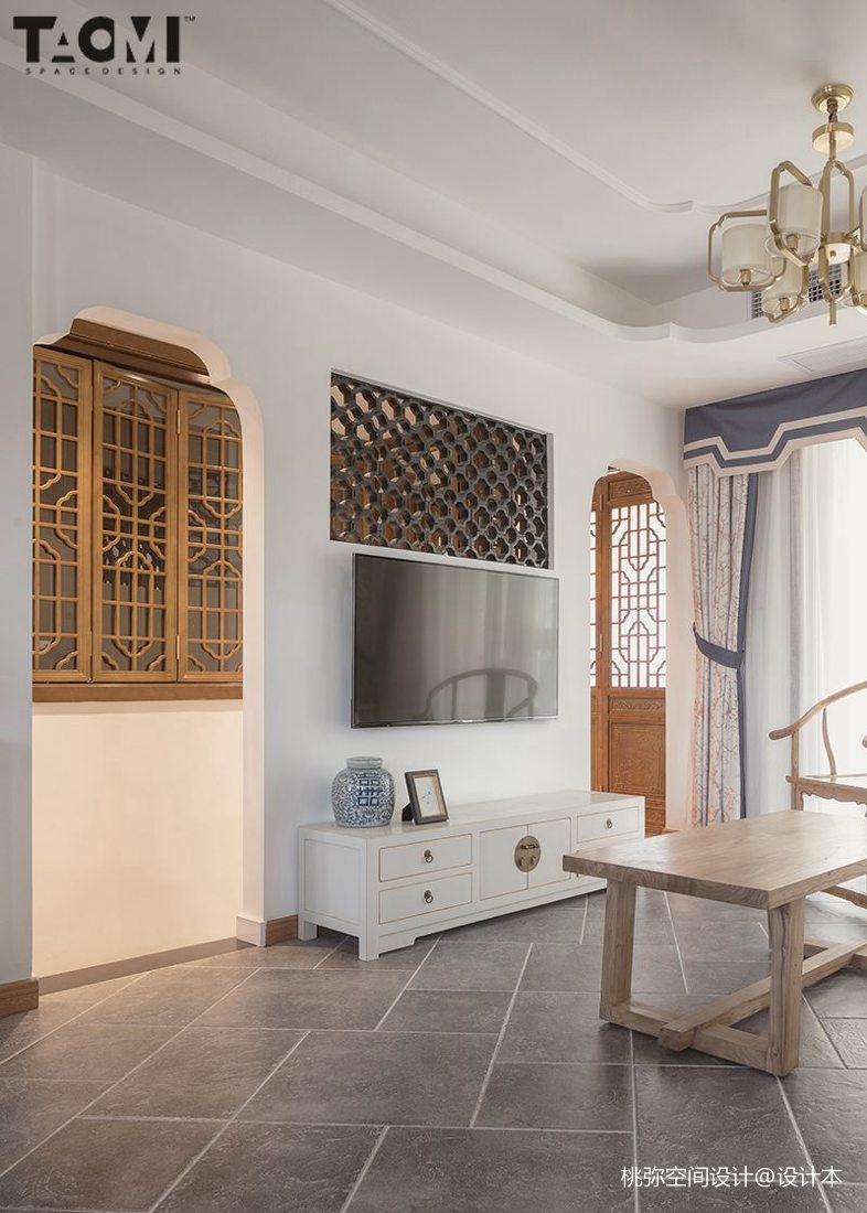 精美113平方四居客厅中式装修欣赏图片大全