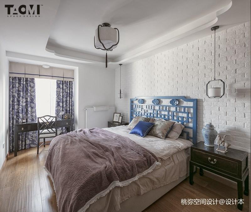 热门113平米四居卧室中式实景图片