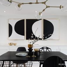 轻奢72平混搭复式餐厅设计案例