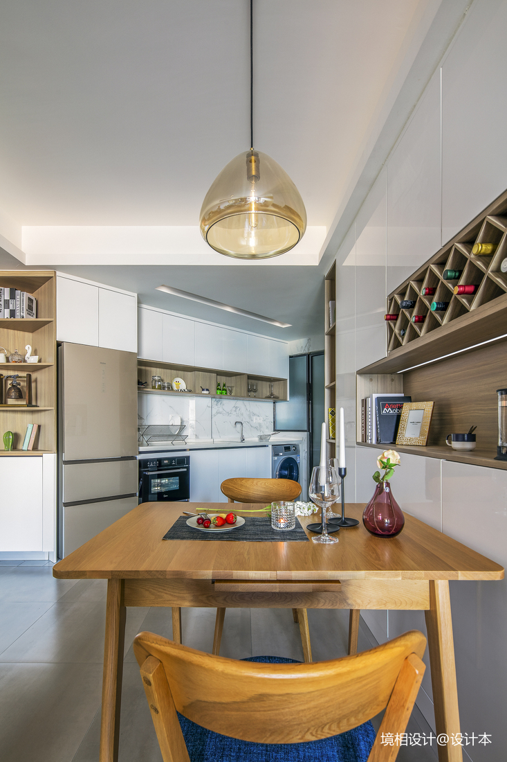大客厅、中西厨、隐形门,79m²简约风竟装出100m²即视感_3325219