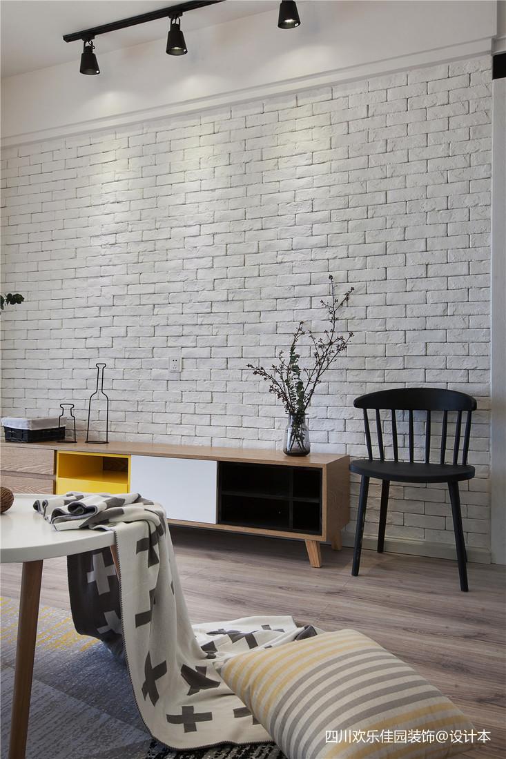 201873平米二居客厅北欧装修实景图片