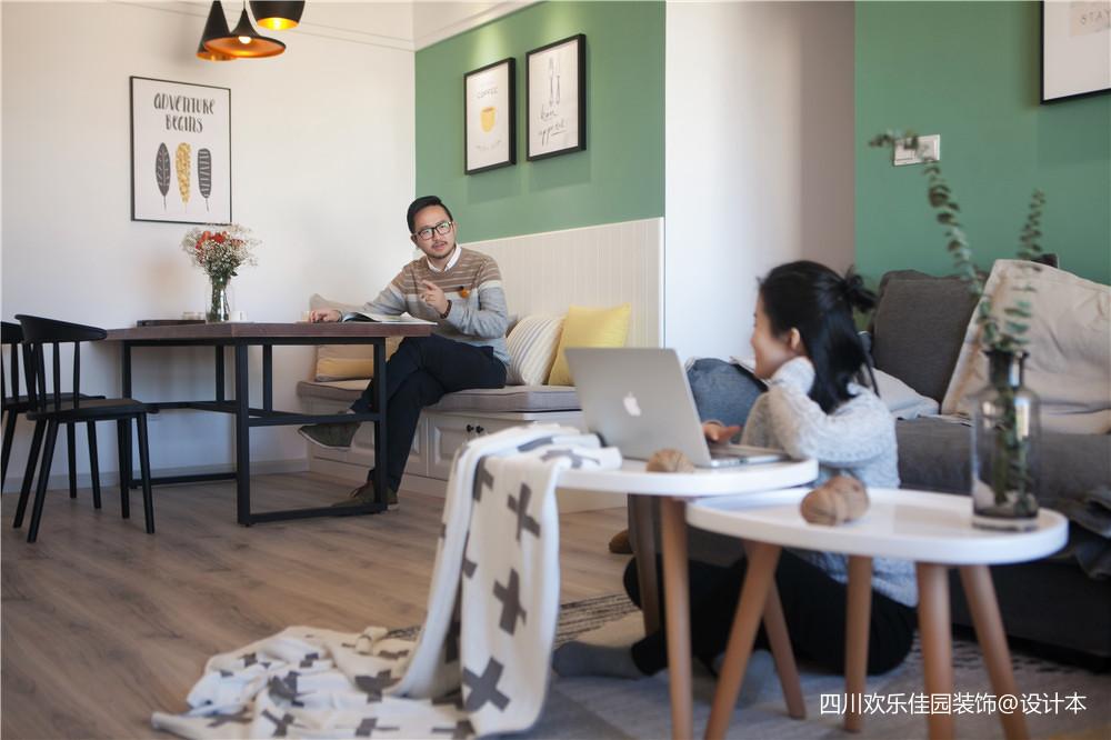 热门76平方二居客厅北欧装修欣赏图片大全