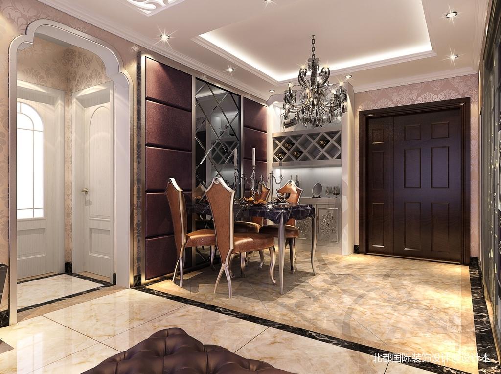 精美90平米二居餐厅新古典装修实景图