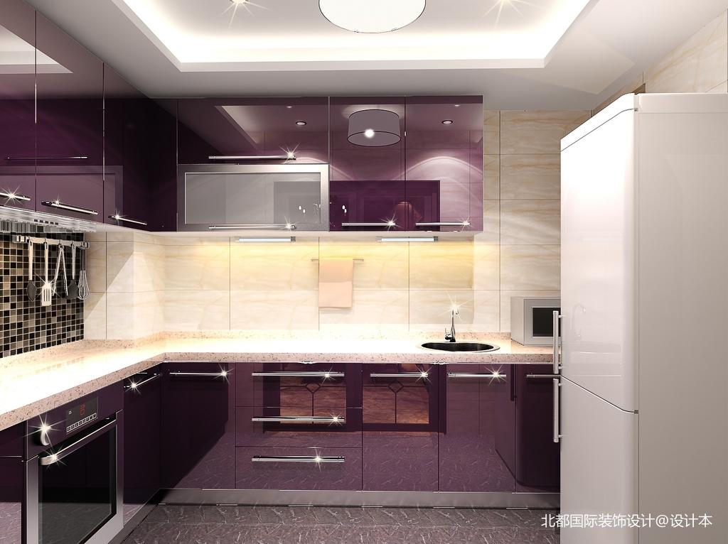 热门面积86平新古典二居厨房设计效果图