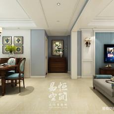 热门面积108平美式三居客厅欣赏图
