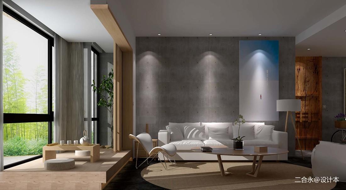 2018精选90平米三居客厅中式装饰图