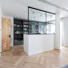 105平米三居书房北欧装修实景图片欣赏
