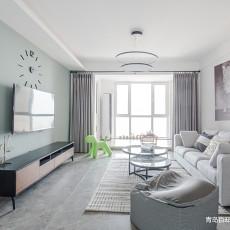 2018精选104平客厅三居现代装修设计效果图