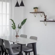 2018精选面积93平现代三居餐厅欣赏图片