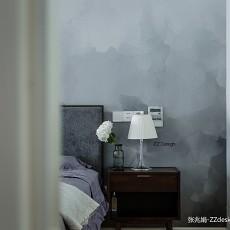 2018北欧四居卧室装修图