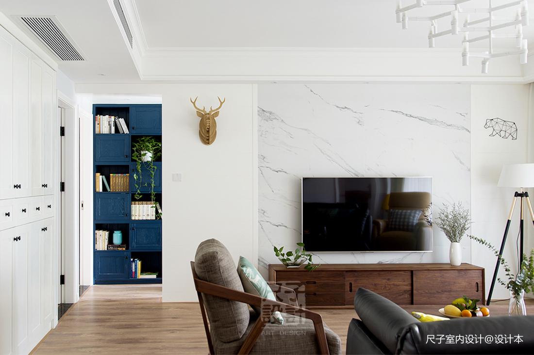 北欧风大宅电视背景墙设计