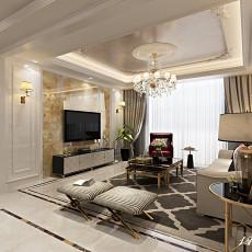 热门面积99平欧式三居客厅效果图片