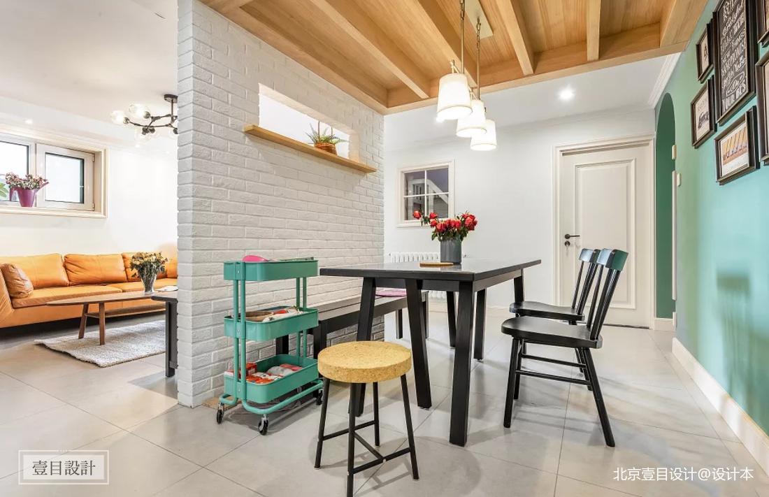 轻奢98平美式三居餐厅设计案例