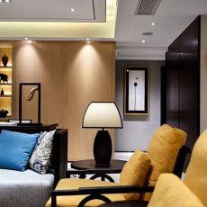 热门面积106平中式三居客厅实景图
