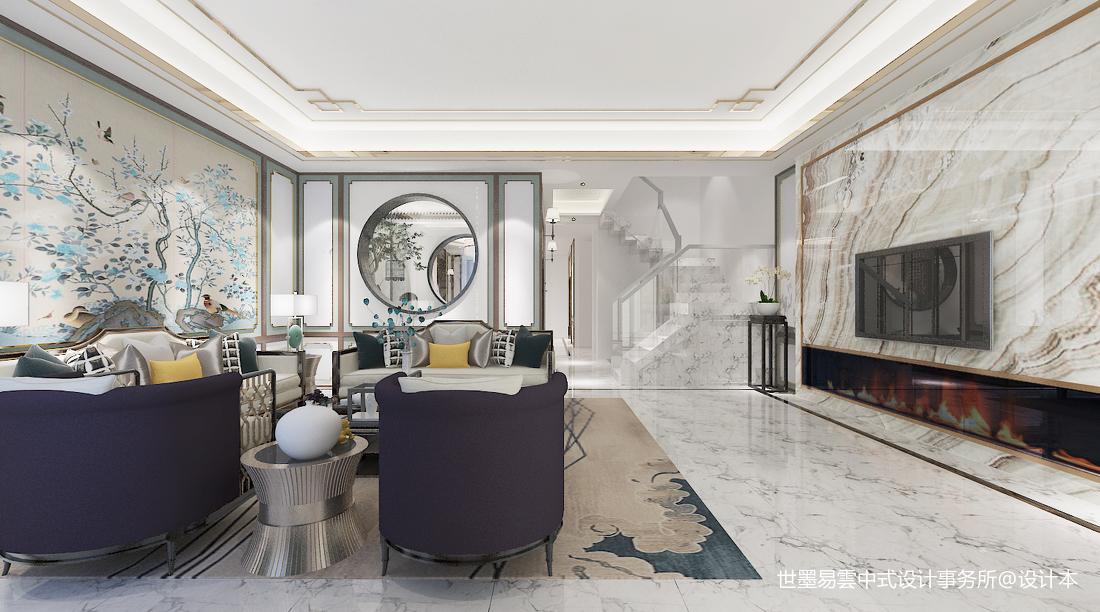 质朴840平中式别墅客厅装修装饰图