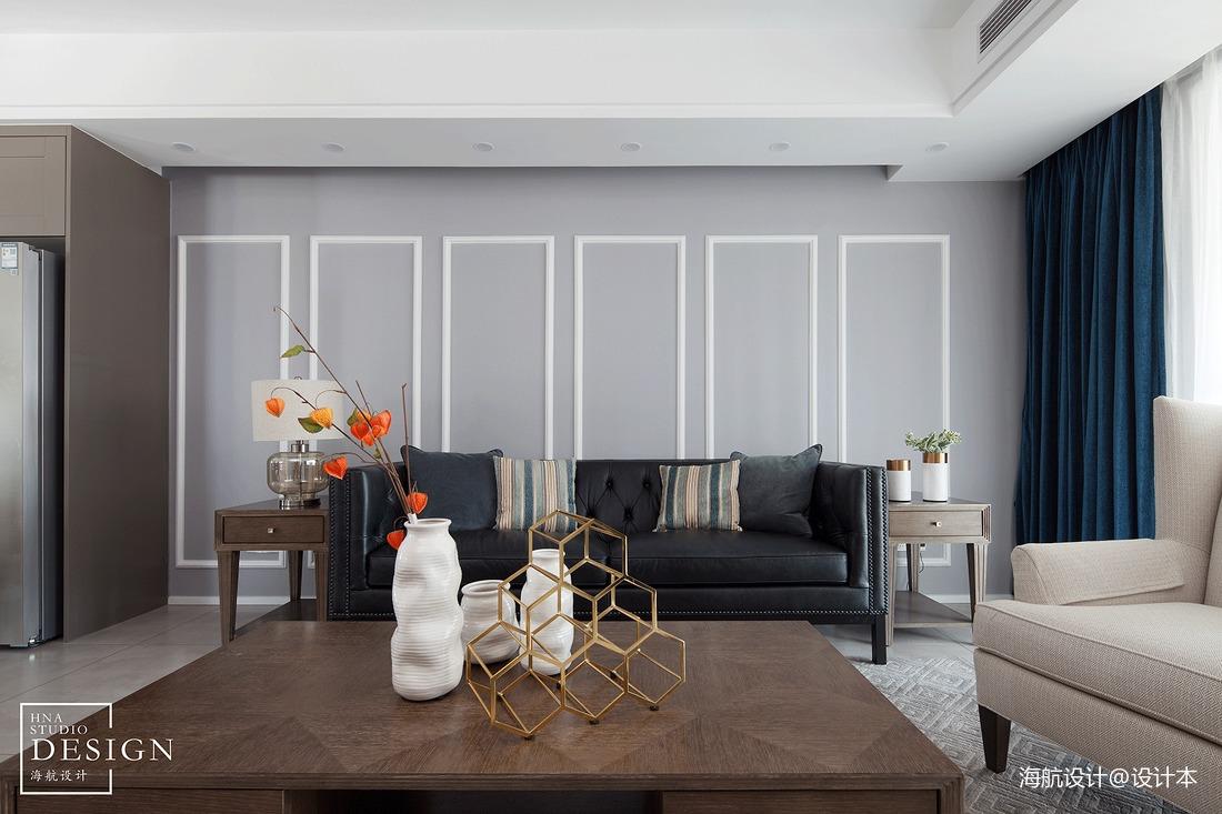 美式三居客厅沙发图
