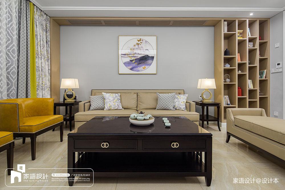 2018127平方四居客厅中式装修实景图