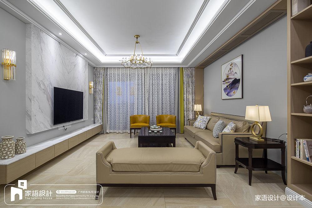 2018精选110平米四居客厅中式装修效果图