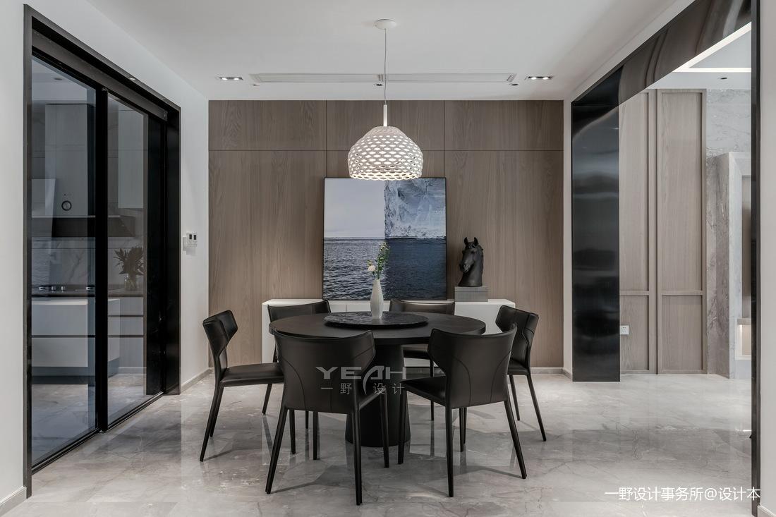 现代别墅餐厅实景设计