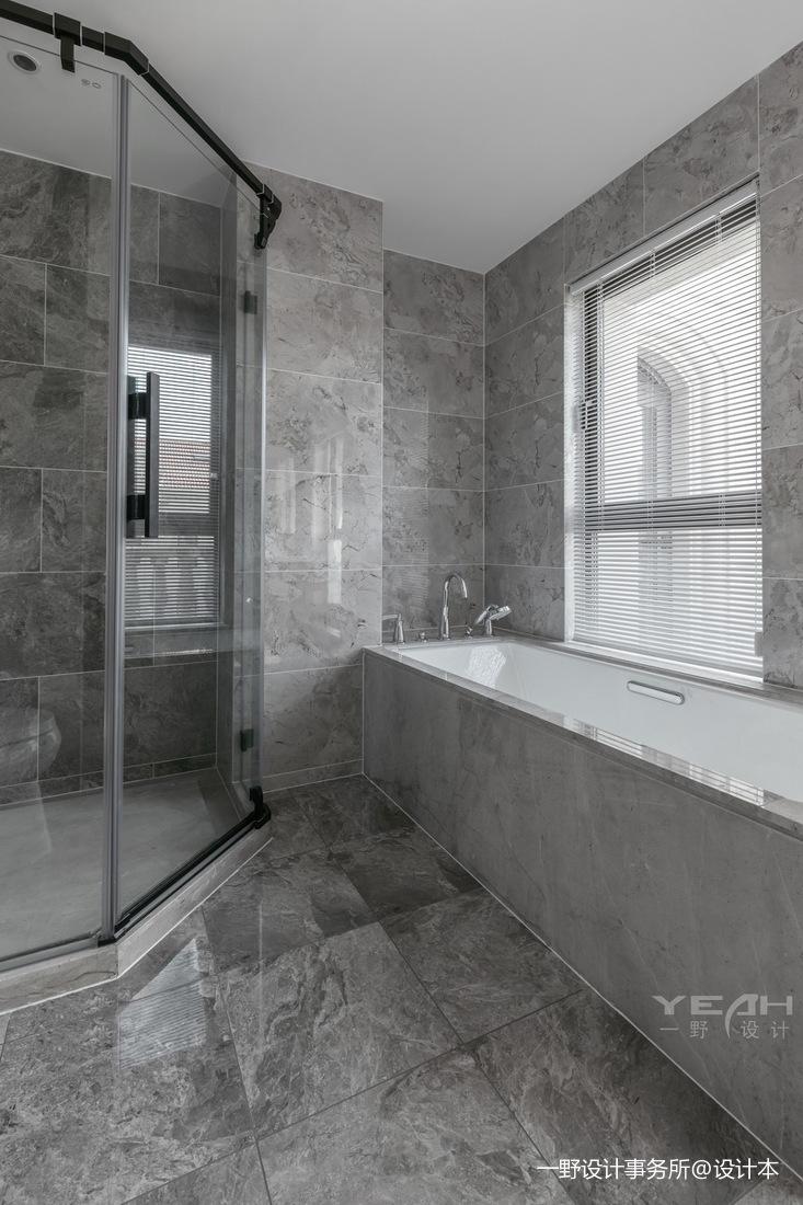 现代别墅浴室实景设计