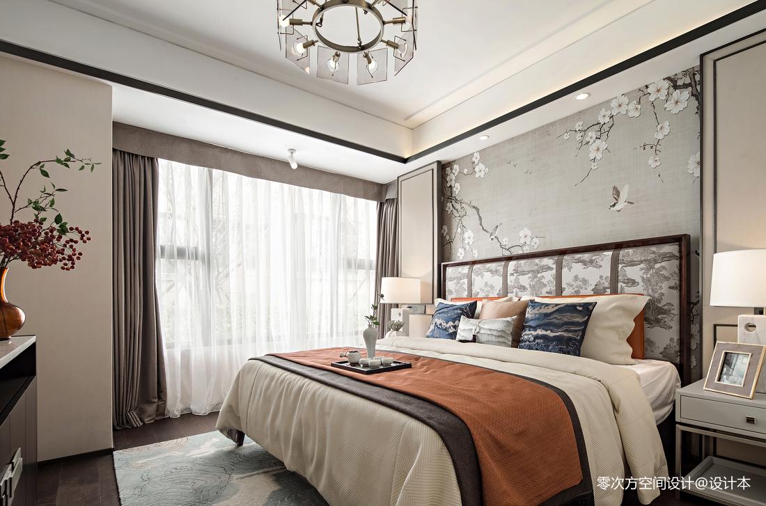 浪漫262平中式样板间卧室装修设计图