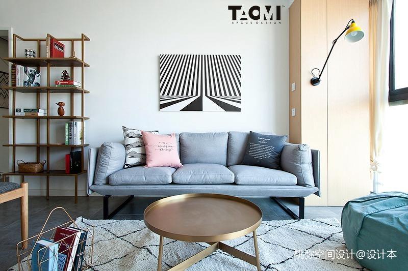 2018106平方三居客厅北欧实景图片欣赏
