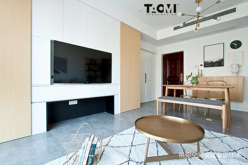 精选106平方三居客厅北欧装修实景图片大全