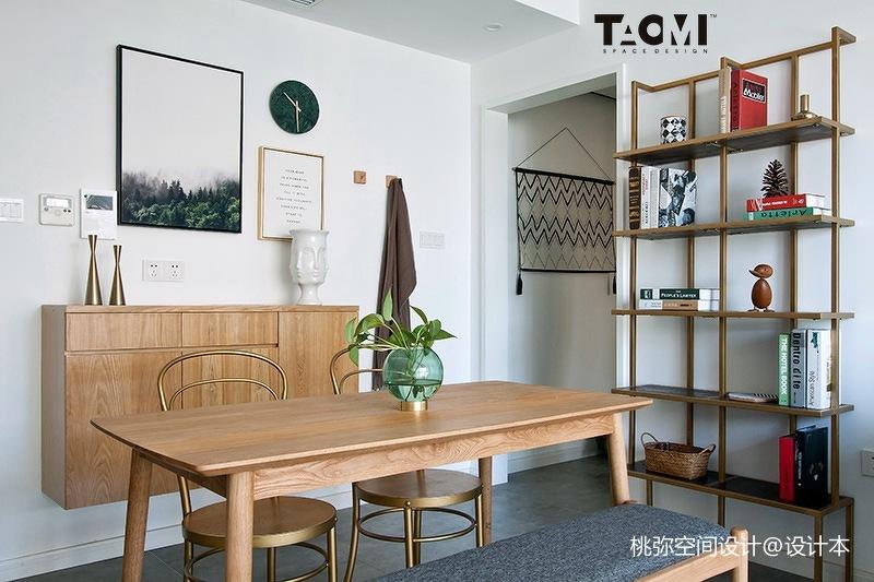 精选面积99平北欧三居餐厅装修实景图片