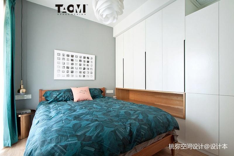 2018面积98平北欧三居卧室装修欣赏图片