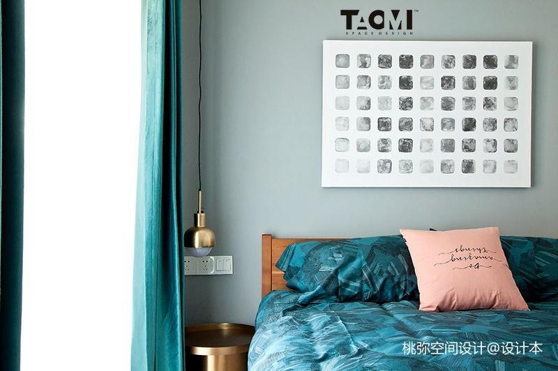 2018精选面积109平北欧三居卧室设计效果图